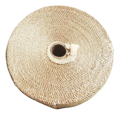 "Torque Solution Exhaust Wrap (Tan Fiberglass): Universal 2"" x 100'"