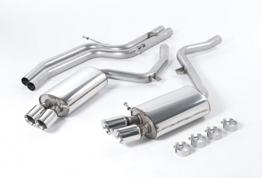 Milltek Non-Resonated Catback Exhaust- 6spd (GT-80 tips) For Audi B8 S5 4.2L