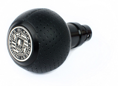BFI Heavy Weight Shift Knob SCHWARZ - Air Leather For BMW Fitment