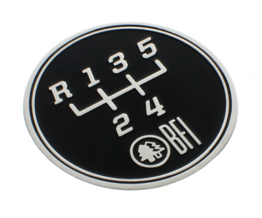 5-Speed Gate Pattern Coin for Heavy Weight Shift Knobs (Transverse)