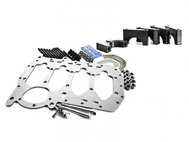 """ultimate girdle kit. Includes 058 girdle and billet """"Tall Boy"""" main caps For 058"""