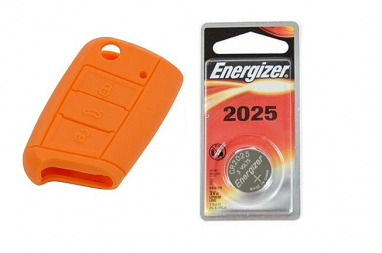 MK7 Silicone Key Fob Jelly w/ Battery (Orange) - 2025
