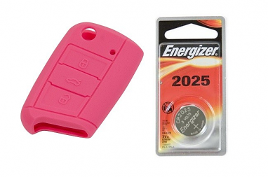 MK7 Silicone Key Fob Jelly w/ Battery (Pink) - 2025