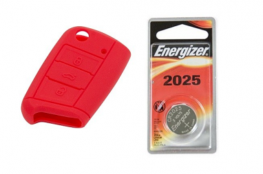 MK7 Silicone Key Fob Jelly w/ Battery (Red) - 2025