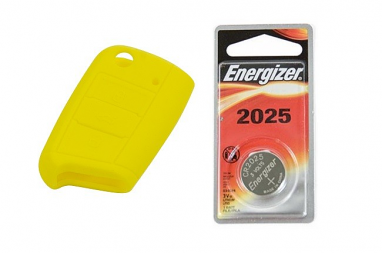 MK7 Silicone Key Fob Jelly w/ Battery (Yellow) - 2025