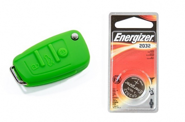 Audi Silicone Key Fob Jelly w/ Battery (Green) - 2032