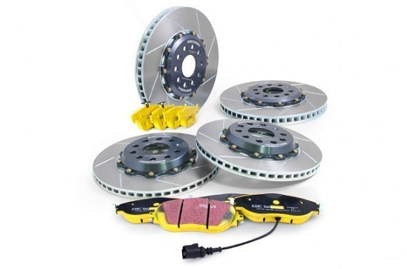 Girodisc Front & Rear Slotted 2pc Rotor Kit w/ EBC Yellow Stuff Pads