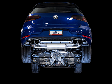 AWE Track Edition Exhaust For MK7.5 Golf R - Diamond Black 102mm Tips