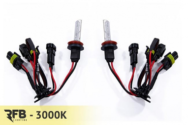 RFB Replacement HID Bulb Pair - 3000K (Rally Yellow) For H11