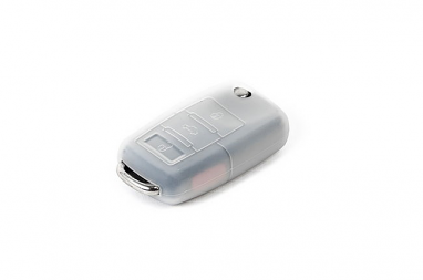 Silicone Key Fob Jelly Clear For VW Models