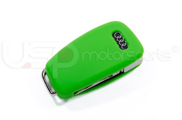 Silicone Key Fob Jelly Green For Audi Models