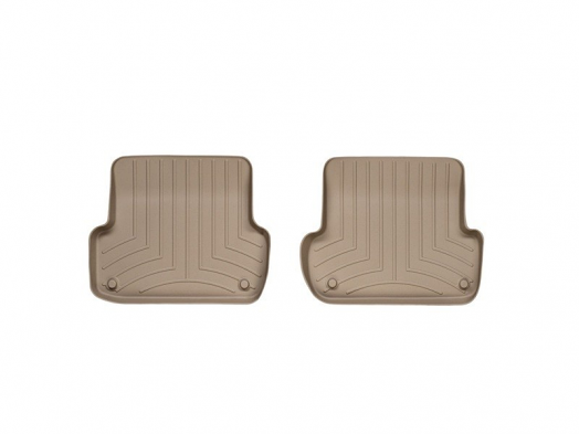 WeatherTech Rear FloorLiner (Tan) For Audi A4/S4/RS4