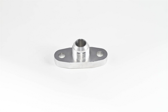 Torque Solution Billet Oil Drain Flange w/ Integrated -10 Flare