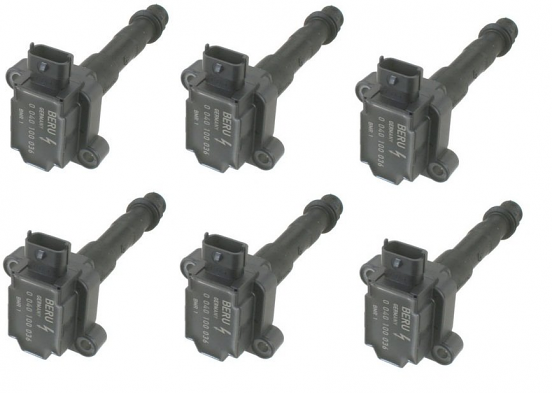 Direct Ignition Coil Pack Set of 6 For Porsche 911 Turbo