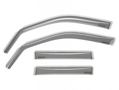 WeatherTech Front and Rear Deflector (Light Smoke) For Audi A4 Avant
