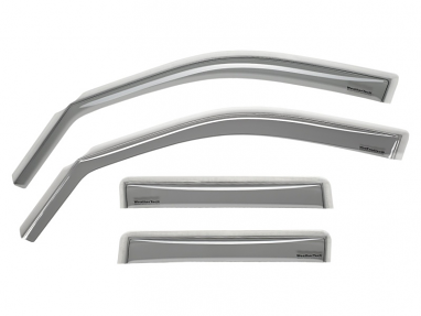 WeatherTech Front and Rear Deflector (Light Smoke) For Audi RS6