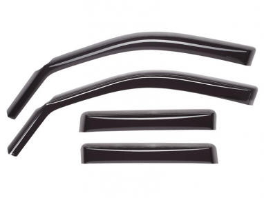 WeatherTech Front and Rear Side Window Deflectors (Dark Smoke) For Audi A4/S4/RS4 Sedan Chrome