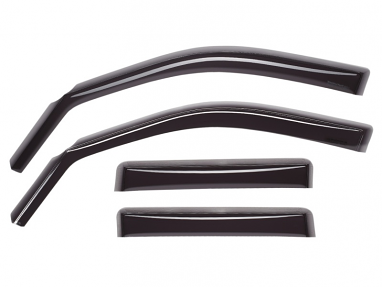 WeatherTech Front and Rear Side Window Deflectors (Dark Smoke) For Audi A4/S4/RS4 Sedan
