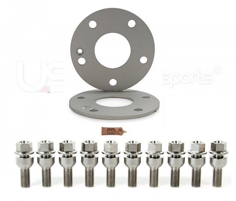 Spulen Wheel Spacer Pair & Bolts  - 7mm (Titanium) - Porsche Hub
