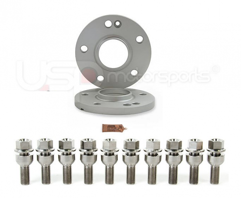Spulen Wheel Spacer Pair & Bolts  - 15mm (Titanium) - Porsche Hub