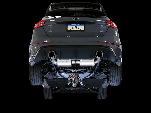 AWE Touring Edition Cat-back Exhaust for Ford Focus RS- Non-Resonated - Chrome Silver Tips