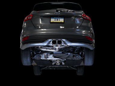 AWE Track Edition Cat-back Exhaust for Ford Focus ST - Chrome Silver Tips