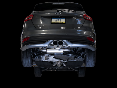 AWE Touring Edition Cat-back Exhaust for Ford Focus ST - Non-Resonated - Chrome Silver Tips