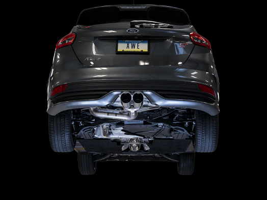 AWE Track Edition Cat-back Exhaust for Ford Focus ST - Diamond BlackTips
