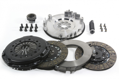 DKM MS Twin Disc Clutch Kit w/Steel Flywheel For VW MK4 R32