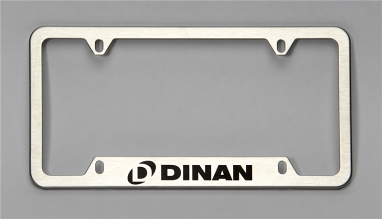 Dinan License Plate Frame - Brushed Steel
