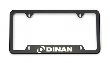 Dinan License Plate Frame - Black Steel