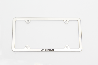 Dinan Slimline License Plate Frame - Brushed Steel