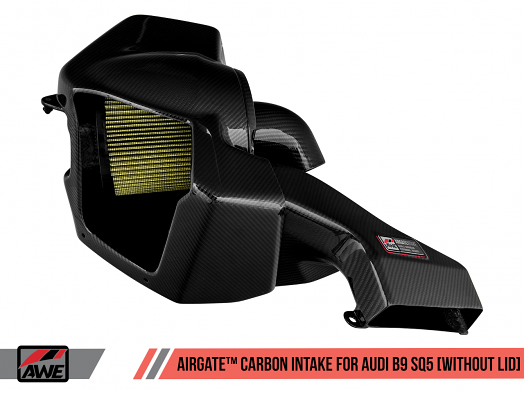 AWE AirGate™ Carbon Fiber Intake for Audi B9 SQ5 3.0T - Without Lid