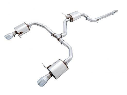 AWE Touring Edition Exhaust For VW MK7 Jetta GLI - Black Tips