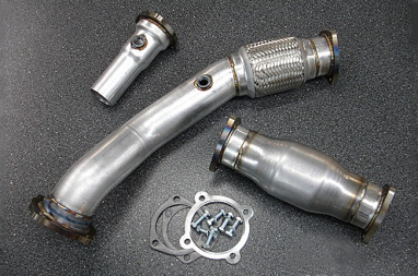 "42 Draft Design 3"" Downpipe with High Flow Cat For - VW MK4 1.8T"
