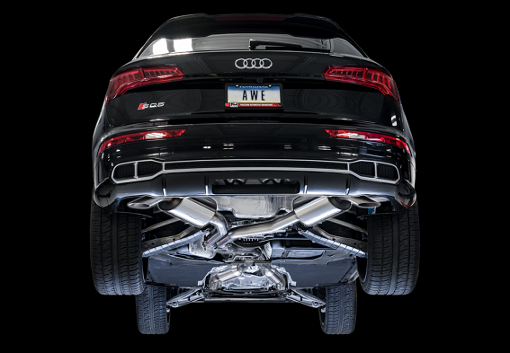 AWE Touring Edition Exhaust for Audi B9 SQ5 - Non-Resonated - No Tips