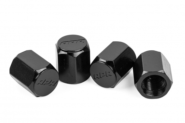 APR Wheel Valve Stem Caps - Set of 4 - Black
