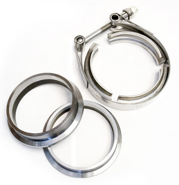 "V-Band and 3"" Machined Flange and clamp Set"