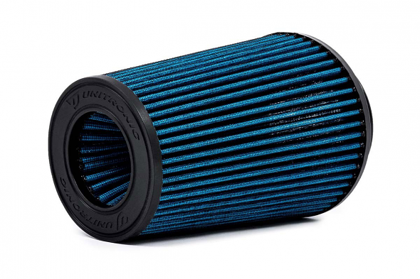 """Unitronic 6"""" Tapered Cone Race Air Filter for 2.5TFSI EVO (Blue)"""