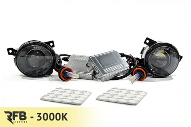 RFB MK5 HID Projector Fog Light Conversion Kit - 3000K (Rally Yellow)