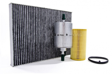 Filter Trio Kit (Oil, Fuel, A/C Cabin Filter) For Audi A4 2.0T FSI