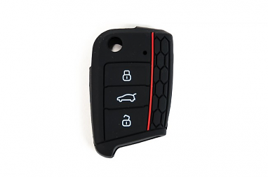 Silicone Key Fob Jelly Black For MK7