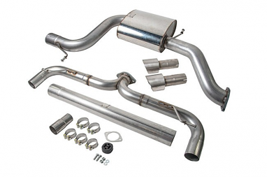 VWR Twin Exit Rear Exhaust (Cat-back) For MK7 GTI 2.0T
