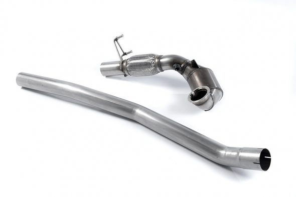 Milltek Downpipe- High Flow Cat For 2.0T MQB Quattro