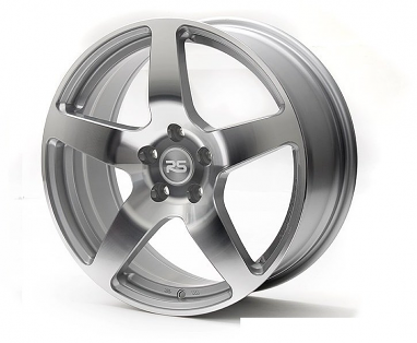 Neuspeed RSe52 Light Weight Wheel: 18x8 Machine Silver