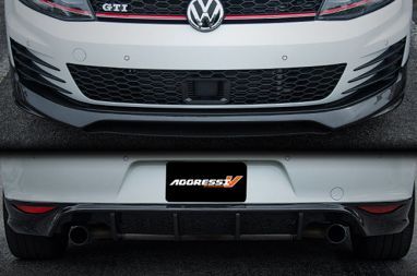 Carbon Fiber Front Lip and Rear Diffuser Package For MK7 GTI