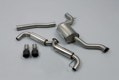 Milltek Resonated Catback Exhaust (Black Tips) For VW MK6 GTI