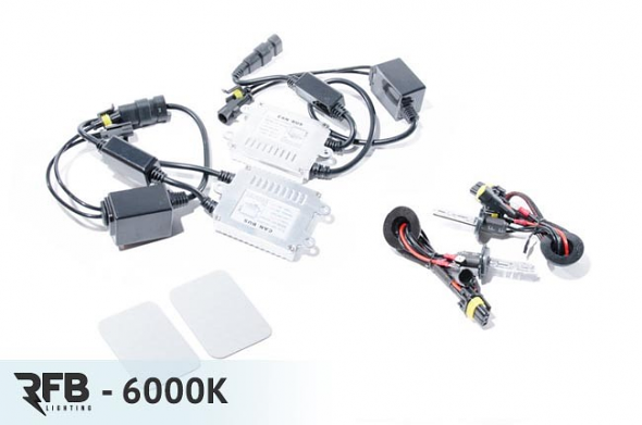 RFB H3 HID Conversion Kit with CAN-BUS Ballasts - 6000K (Diamond White)