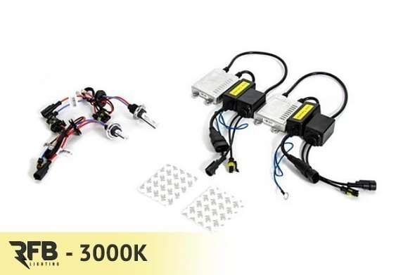 RFB 9006 HID Conversion Kit with CAN-BUS Ballasts - 3000K (Rally Yellow)