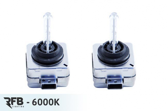 RFB HID Replacement Bulb Pair - 6000K (Diamond White) For Audi A5